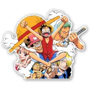 Купить фигурные наклейки One Piece