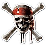 Фигурная наклейка Pirates of the Caribbean