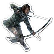 Фигурная наклейка Tomb Rider