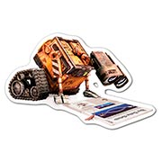 Фигурная наклейка Wall-E