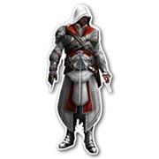 Фигурная интерьерная наклейка Assassin's Creed