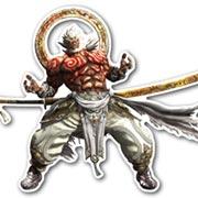 Фигурная интерьерная наклейка Asura's Wrath