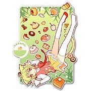 Фигурная интерьерная наклейка по аниме/манге Neko Paradise