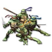 Фигурная интерьерная наклейка Ninja Turtles
