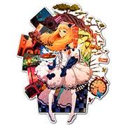 Фигурная интерьерная наклейка по аниме/манге Pixiv Girls