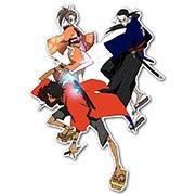 Фигурная интерьерная наклейка по аниме/манге Samurai Champloo