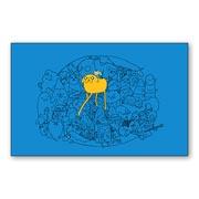 Купить магниты с металлическим отливом Adventure Time