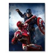 Магнит с металлическим отливом Captain America