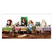 Купить прямоугольные интерьерные наклейки Alice in Wonderland
