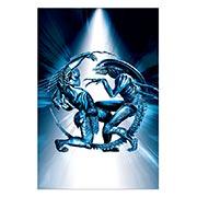 Купить прямоугольные интерьерные наклейки Aliens vs Predator
