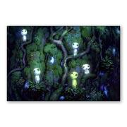 Купить прямоугольные интерьерные наклейки Princess Mononoke