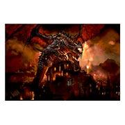 Прямоугольная интерьерная наклейка Warcraft and World of Warcraft
