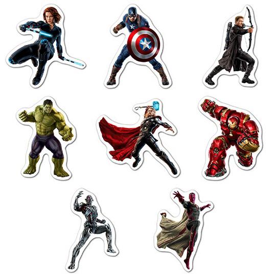 Набор мобильных наклеек Avengers