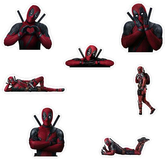 Набор мобильных наклеек Deadpool