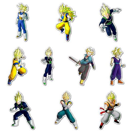 Набор мобильных наклеек Dragon Ball Z