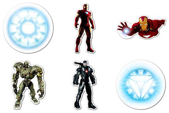 Набор мобильных наклеек Iron Man