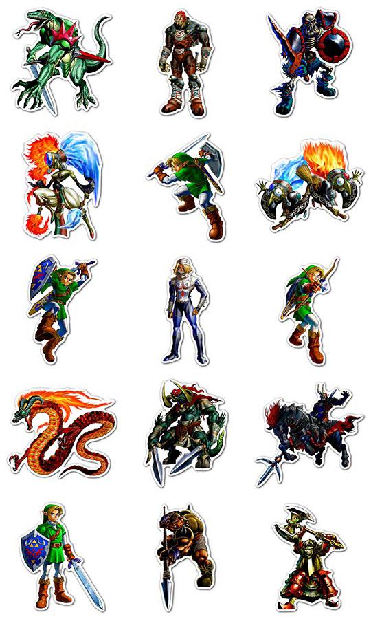 Купить наборы мобильных наклеек Legend of Zelda