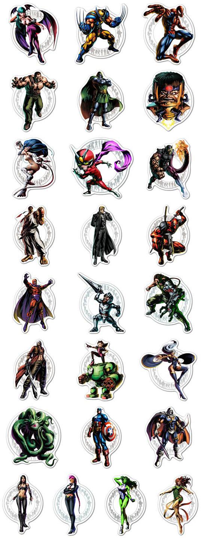 Набор мобильных наклеек Marvel vs Capcom