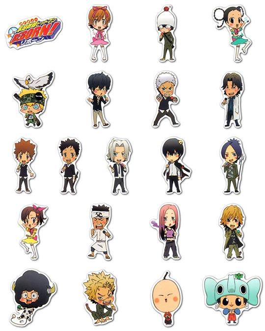 Набор мобильных наклеек Kateikyo Hitman Reborn!