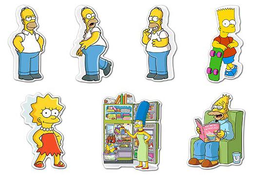 Купить наборы мобильных наклеек Simpsons