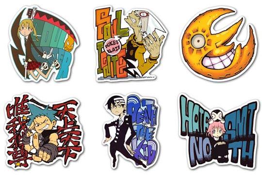 Набор мобильных наклеек Soul Eater