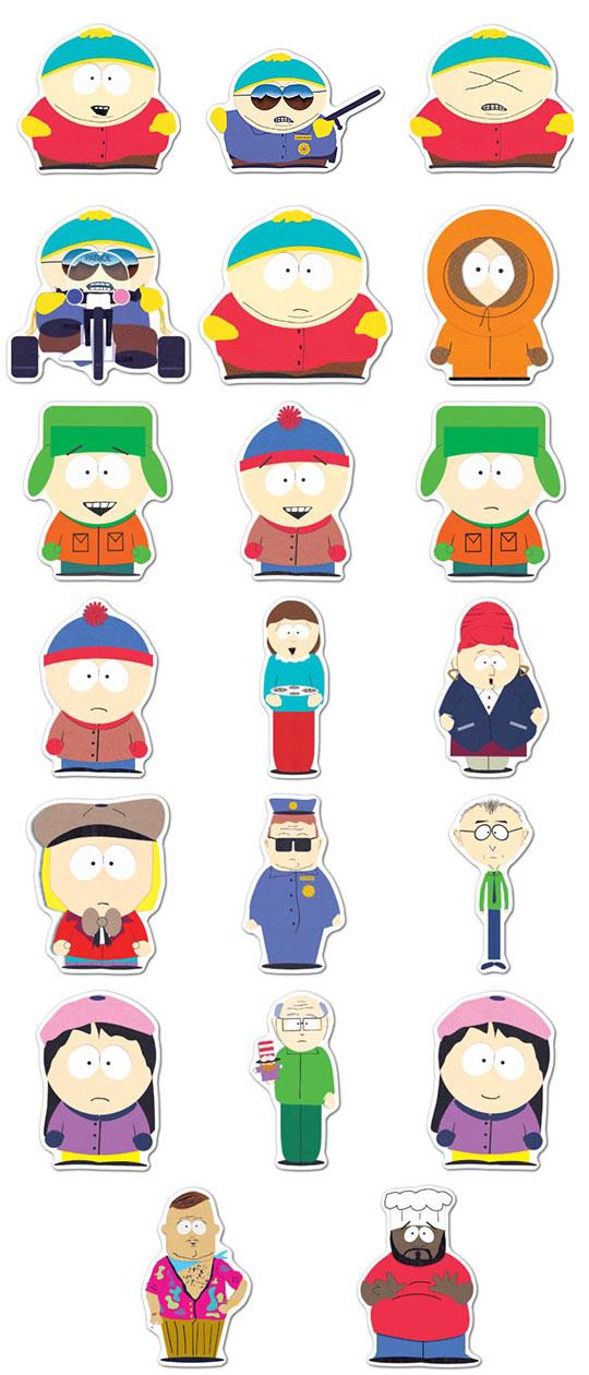 Набор мобильных наклеек South Park