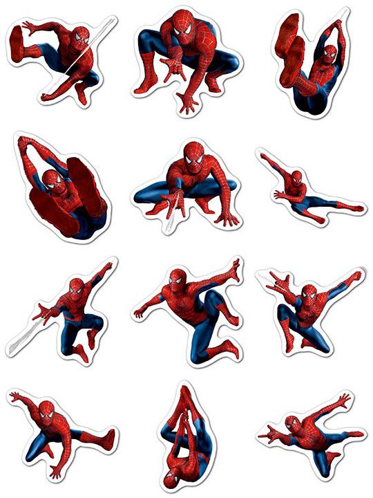 Набор мобильных наклеек Spider-man