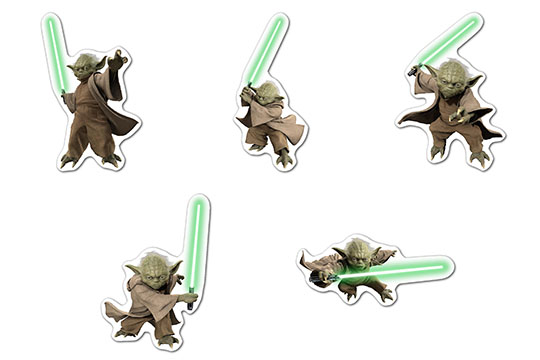 Набор мобильных наклеек Star Wars