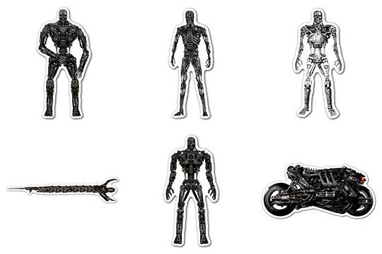 Набор мобильных наклеек Terminator