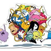 Купить прозрачные наклейки Adventure Time