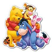 Купить прозрачные наклейки Winnie the Pooh