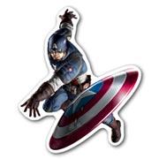 Фигурный магнит Captain America
