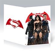 Поздравительная открытка Batman v Superman: Dawn of Justice