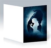 Поздравительная открытка Beauty and the Beast