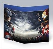 Поздравительная открытка Captain America