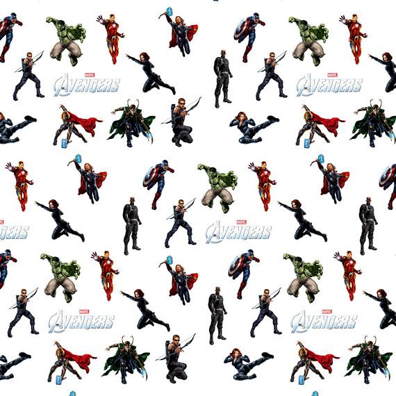 Обёрточная крафт-бумага Avengers