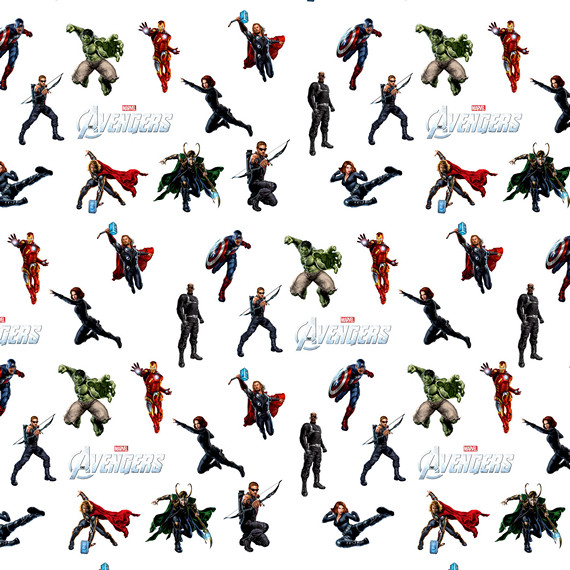 Купить обёрточная крафт-бумага Avengers