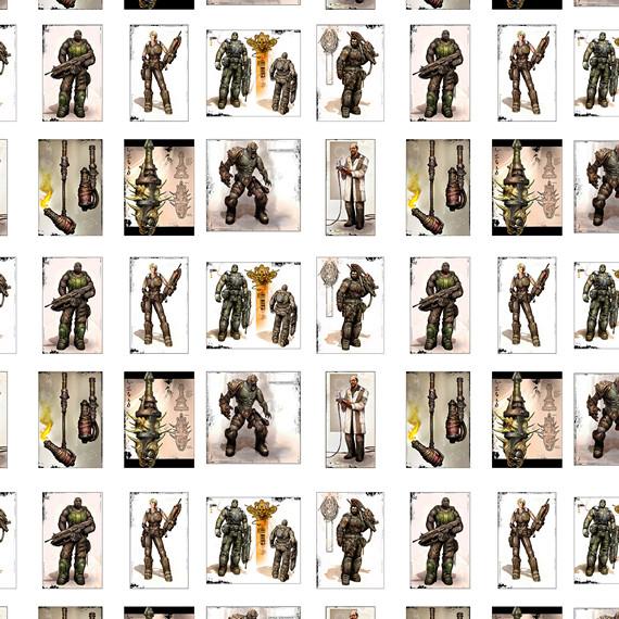 Купить обёрточная крафт-бумага Gears of War