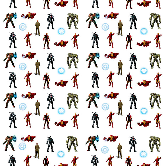 Обёрточная крафт-бумага Iron Man