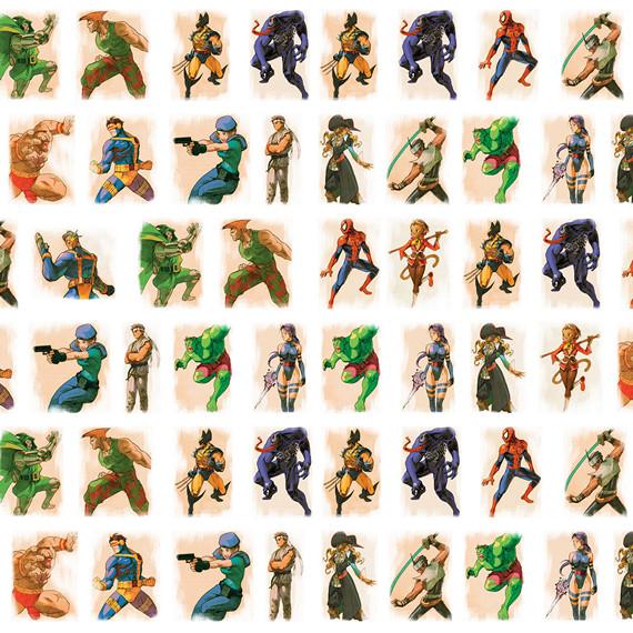 Купить обёрточная крафт-бумага Marvel vs Capcom