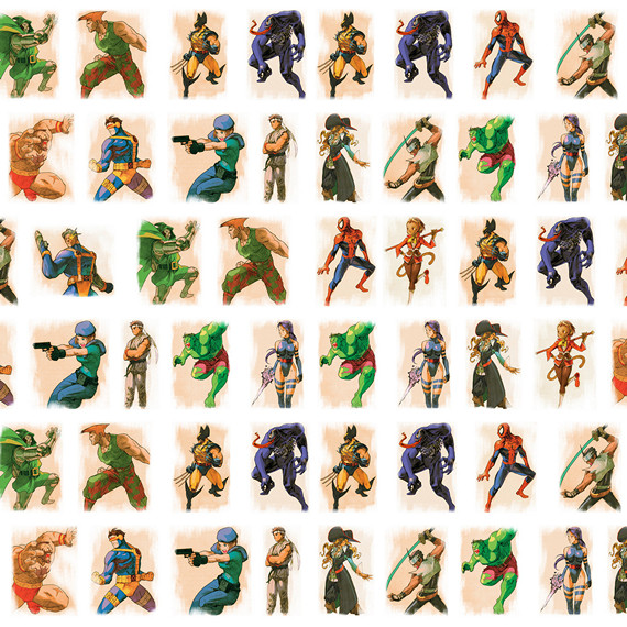 Обёрточная крафт-бумага Marvel vs Capcom
