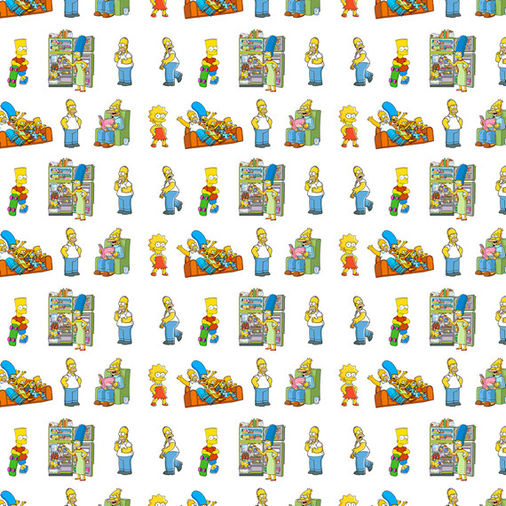 Купить обёрточная крафт-бумага Simpsons
