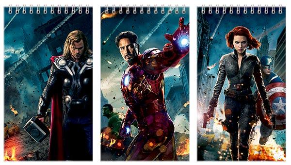 Набор больших универсальных блокнотов Avengers