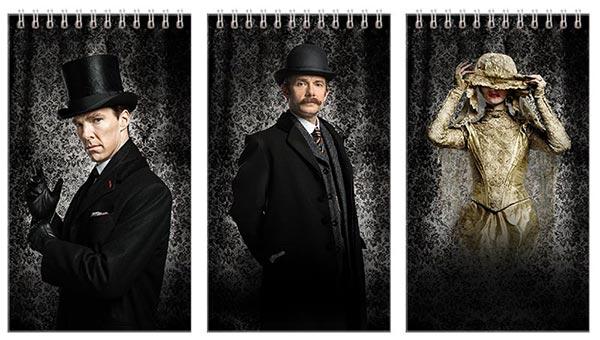 Купить наборы больших универсальных блокнотов Sherlock BBC
