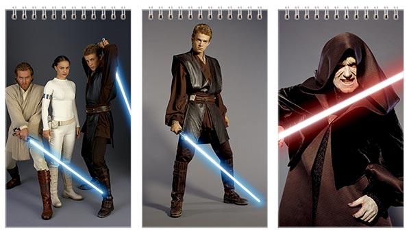 Набор больших универсальных блокнотов Star Wars