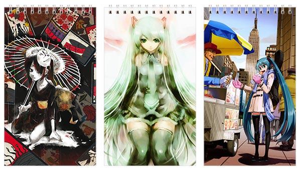 Купить наборы больших универсальных блокнотов Vocaloid