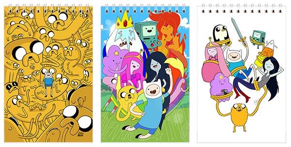 Купить наборы маленьких универсальных блокнотов Adventure Time