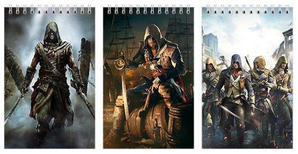 Купить наборы маленьких универсальных блокнотов Assassin's Creed