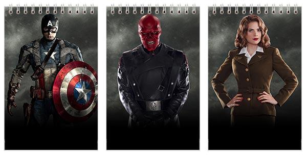 Набор маленьких универсальных блокнотов Captain America