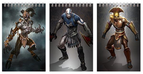 Купить наборы маленьких универсальных блокнотов God of War